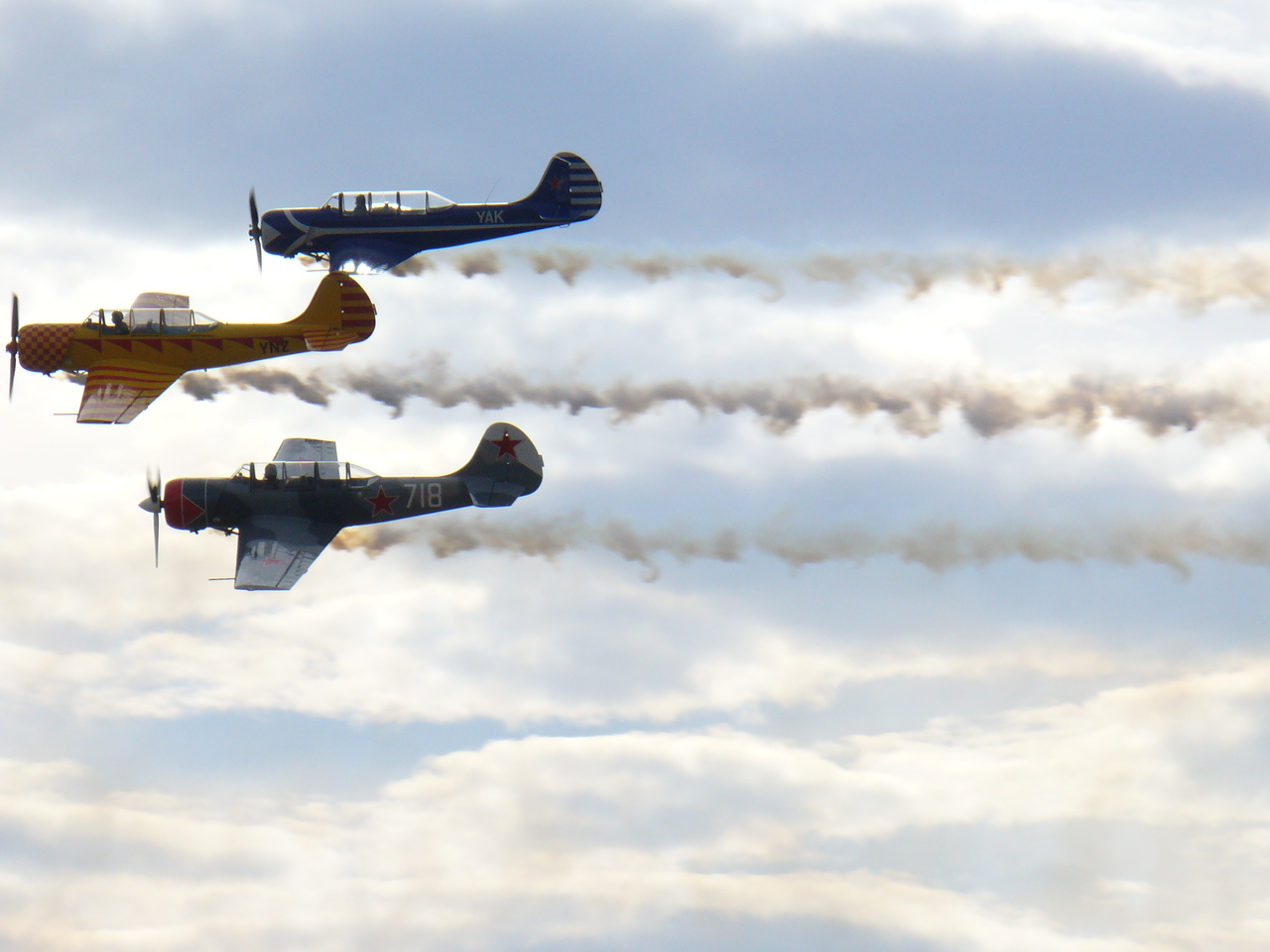 Nanchang CJ-6's at Warbirds over Wanaka