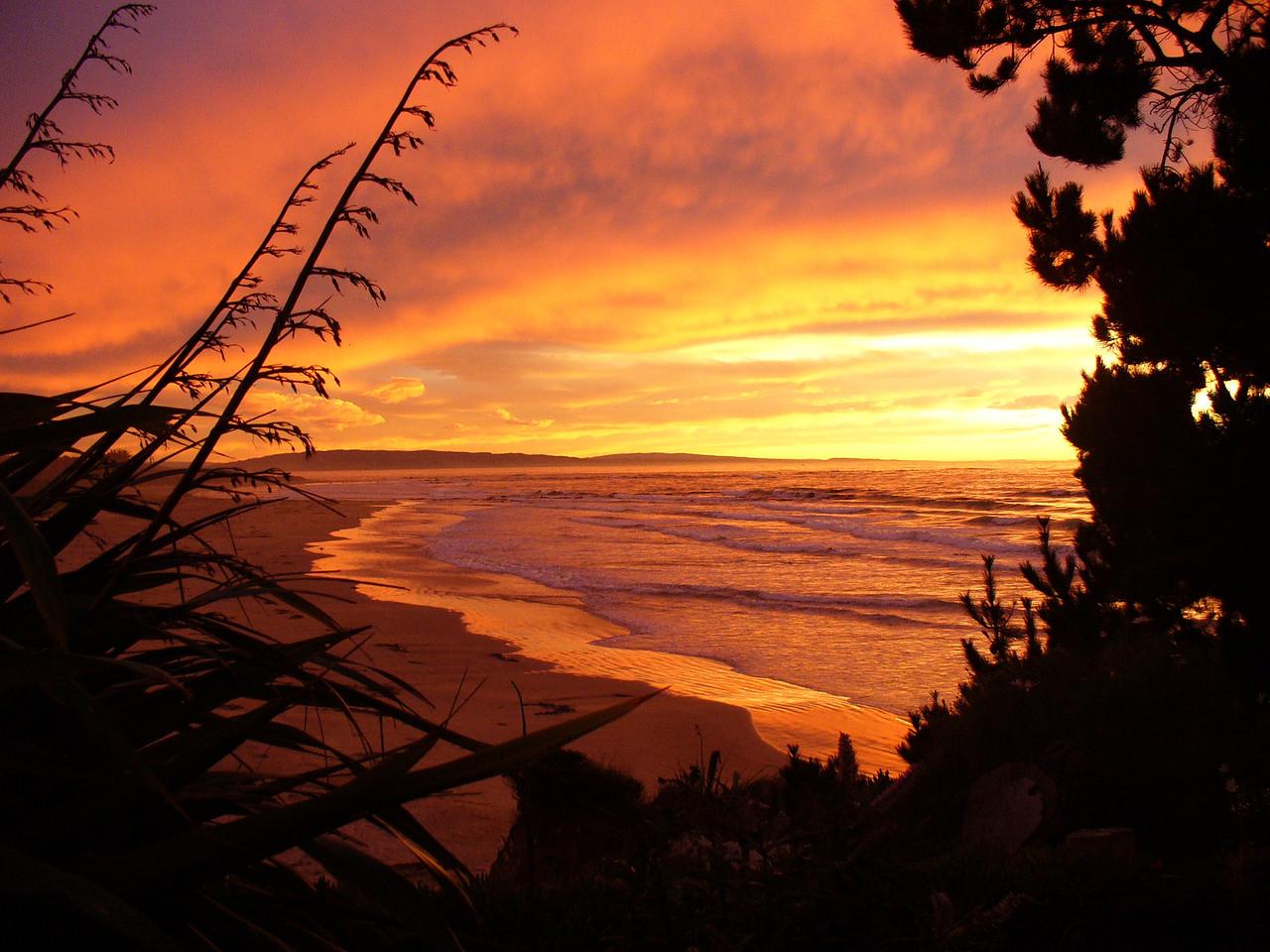 Sunrise, Southland, nil photoshopping