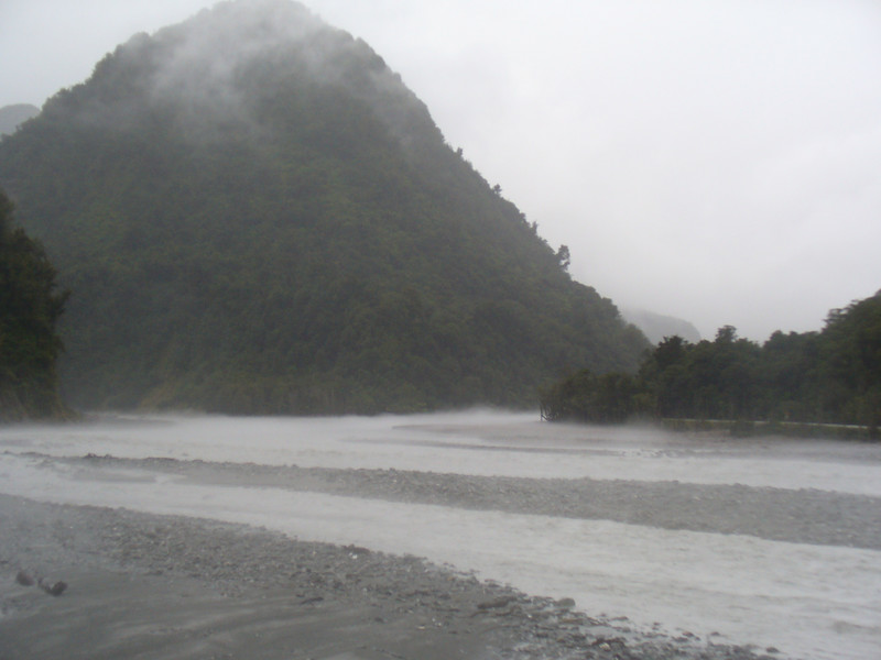 Haast River, and we are getting the West Coast weather we deserve