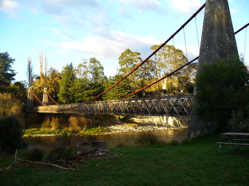 Historic suspension bridge at Clifden