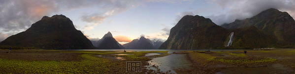 Dawn at Milford Sound, New Zealand (12 shots)