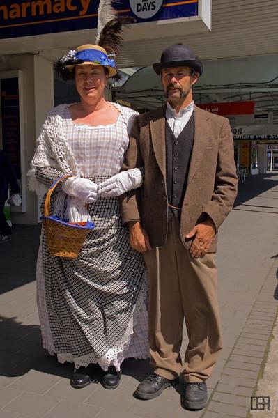 Locals in period costume in Oamaru