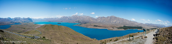 Sumit of Mount John New Zealand