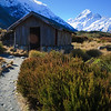 winter hut - Mt. Cook in distance