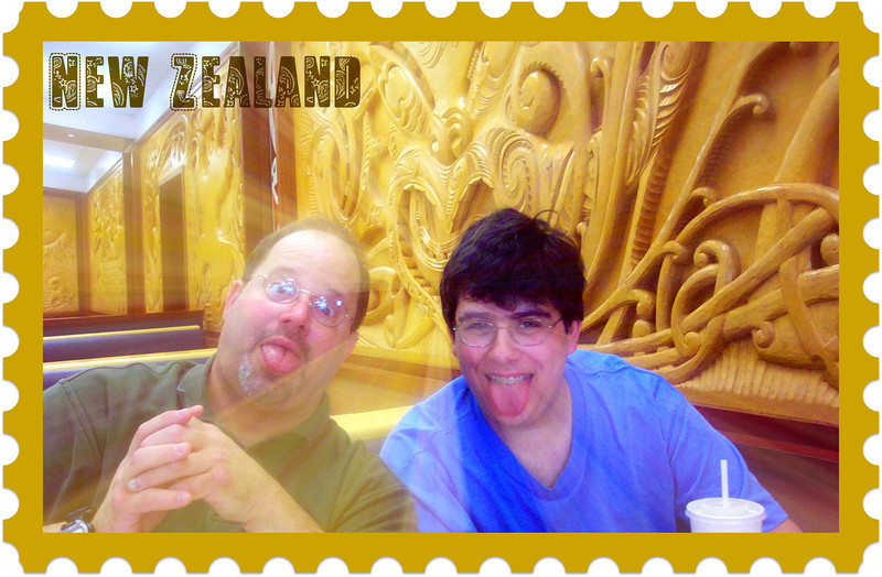 Ben & I are at a McDonald's in Rotorua. We performed the Haka after this meal.