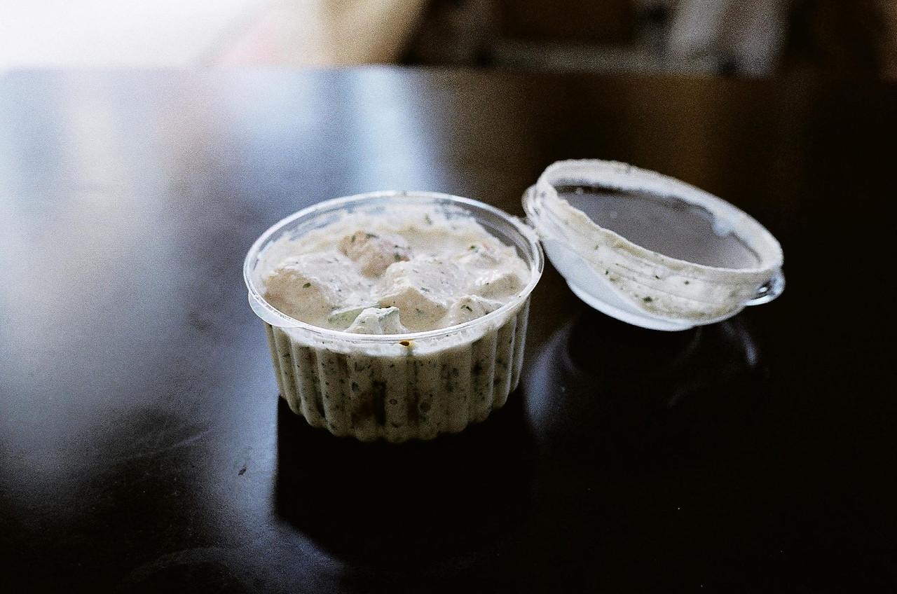 Raw fish in coconut milk