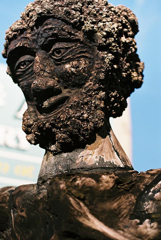 Wood sculpture in Hokatika