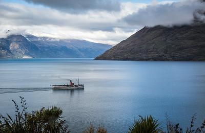 TSS Earnslaw steaming on Lake Wakatipu