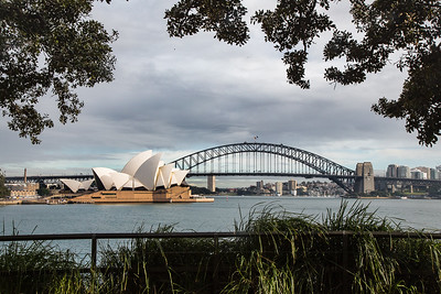 Sydney Harbor Bridge and the Opera House