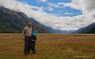 Glacially carved Eglington Valley in Fiordland NP