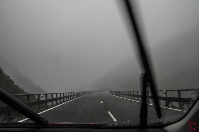 Dangers on the New Zealand Roads - fog