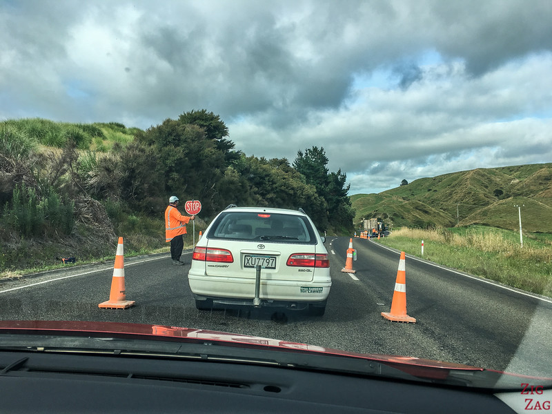 Dangers on the New Zealand Roads - roadwork