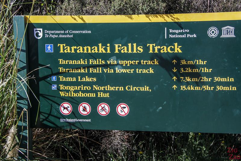 Taranaki Falls Track start