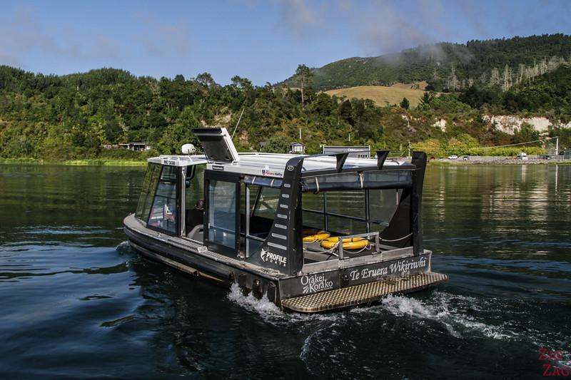Orakei Korako access boat