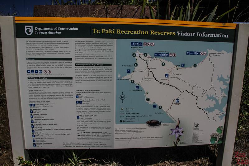 Randonnées au Cap Reinga - Te Paki Recreation Reserve carte