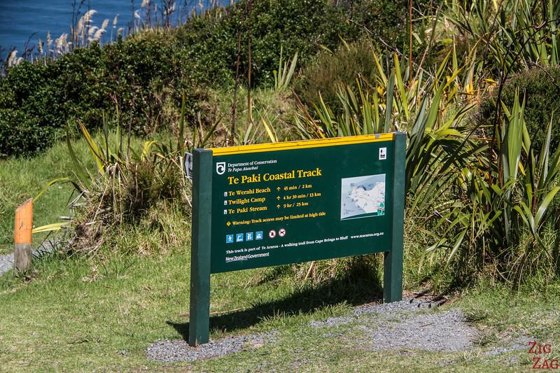 Hiking at Cape Reinga - Te Paki Coastal Track