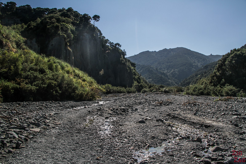 Putangirua Pinnacles Track through river bed in photos 1