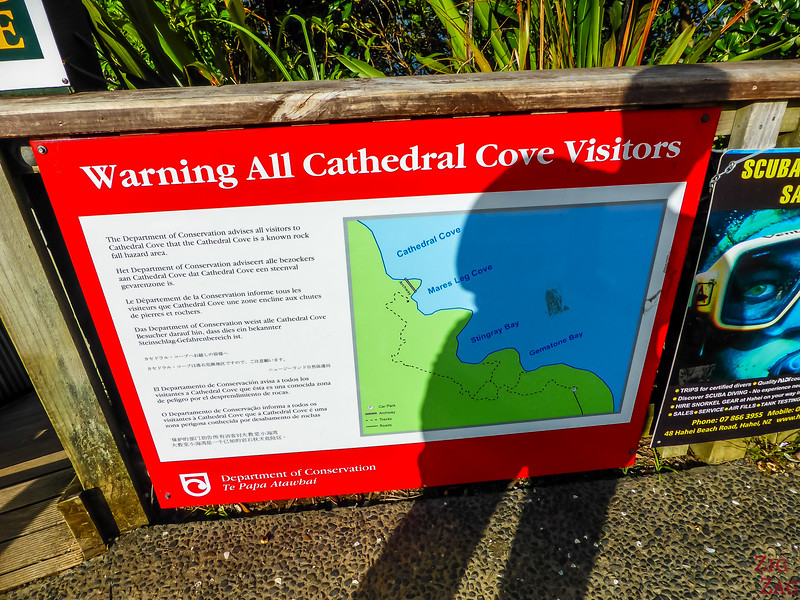 Cathedral Cove hike map