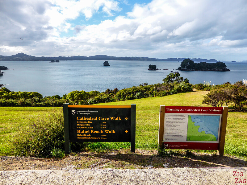 randonnée de Cathedral Cove NZ 1