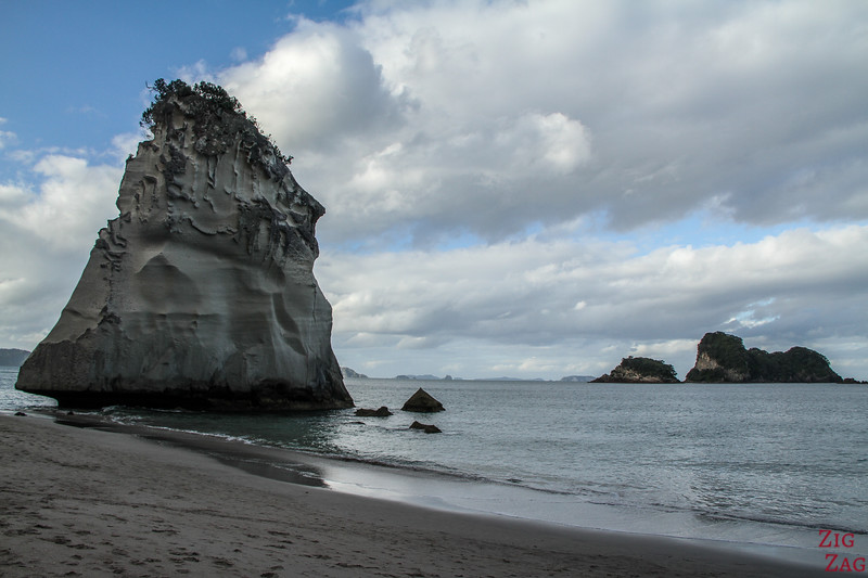 The pinnacle Te Hoho Rock Cathedral cove NZ