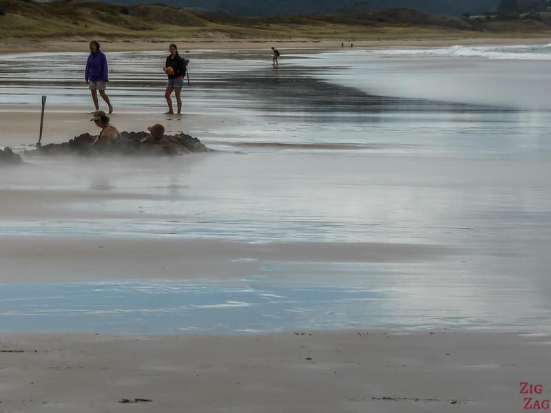 Voyager en New Zealand - Lieux d'intérêt sur les côtes - Hot Water Beach