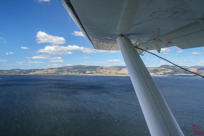Rotorua floatplane takeoff