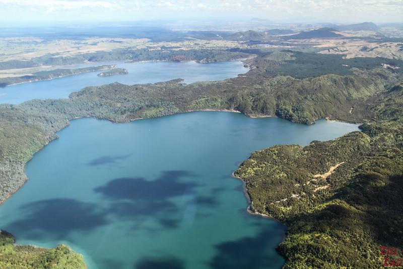 Flying over Rotorua