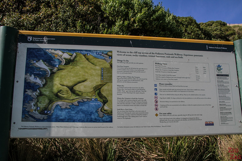 Kaikoura peninsula walkway map