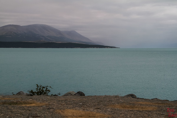 Lake Pukaki on a bad day in Summer