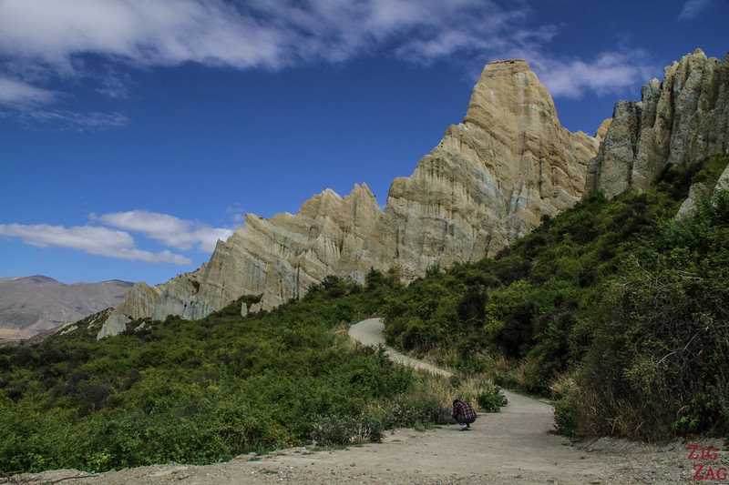 Walking path Omarama clay cliffs New Zealand