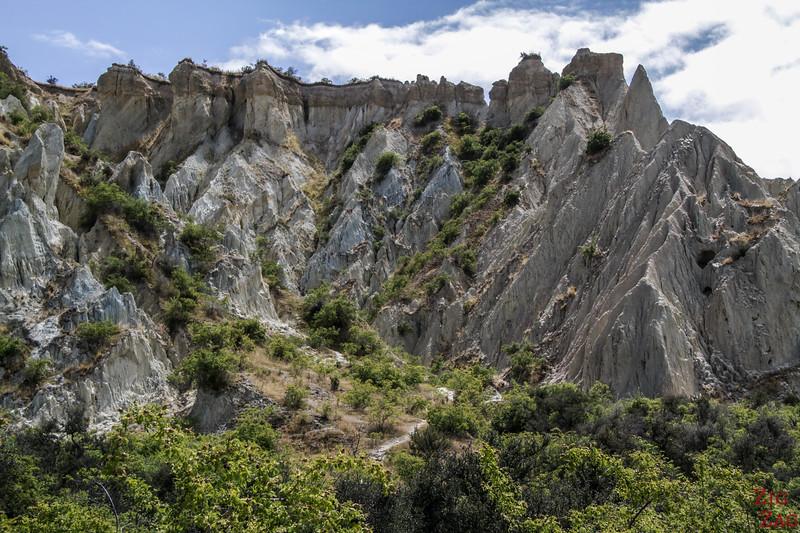 Rando Omarama clay cliffs Nouvelle Zélande 1