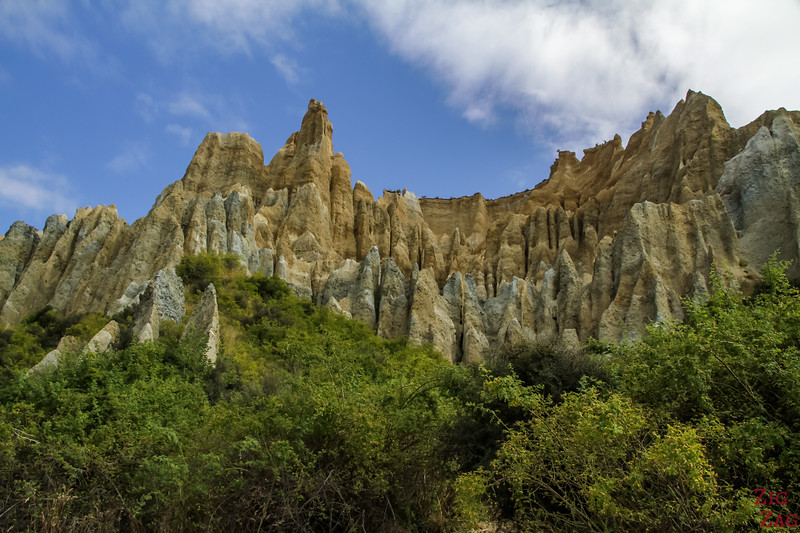 Géologie des falaises d'argile d'Omarama Nouvelle Zélande 1