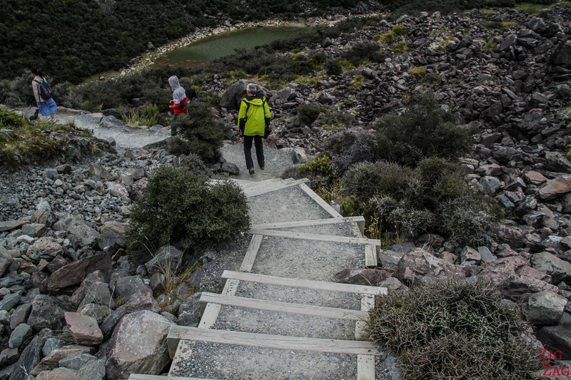 The Tasman Valley Walk - difficulty (stairs) 3