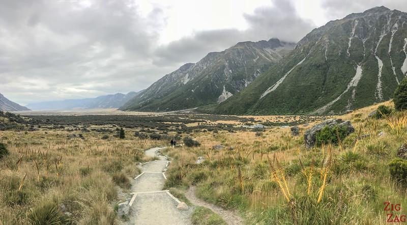 New Zealand Tasman Valley walk views 3
