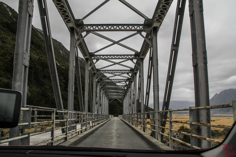Tasman Valley Road New Zealand bridge