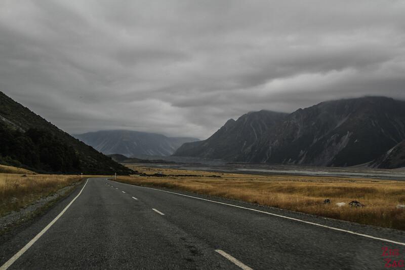 Tasman Valley Road New Zealand 2