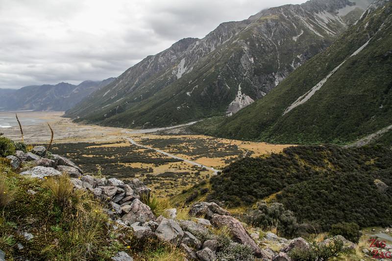 Why do the Tasman Glacier Valley New Zealand