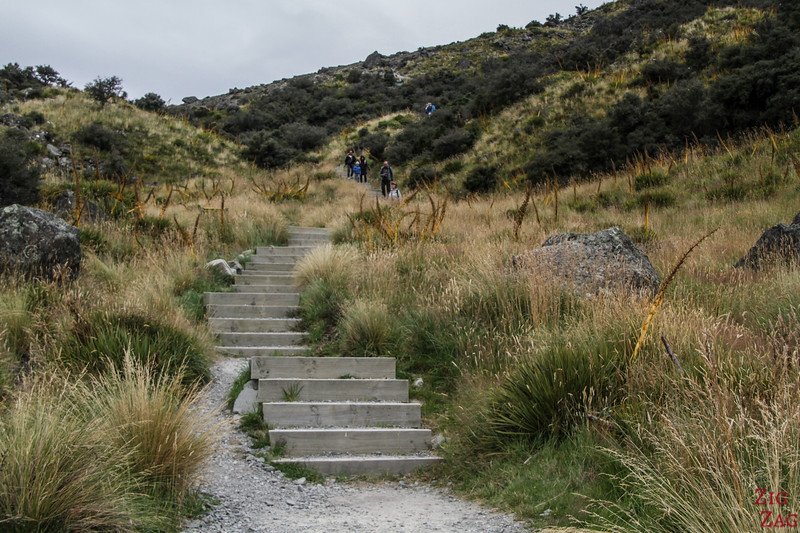 The Tasman Valley Walk - difficulty (stairs) 2