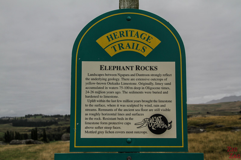 Elephant Rocks New Zealand - Heritage trail