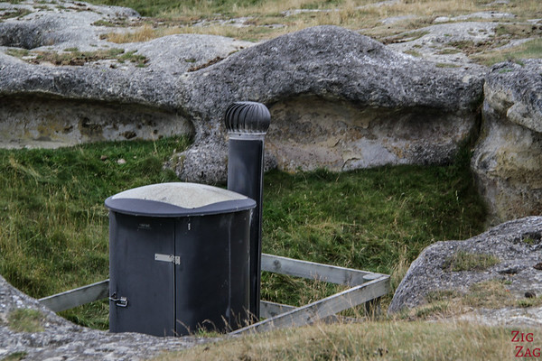 Elephant Rocks New Zealand - toilets