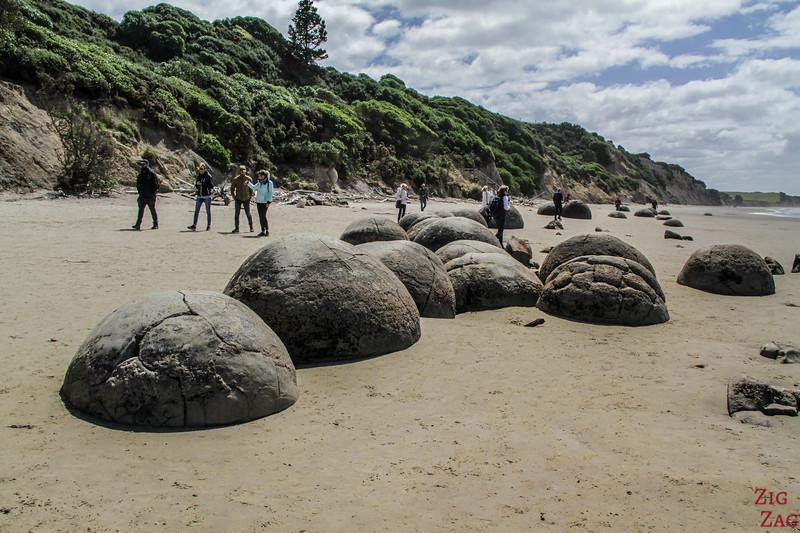 Neuseeland Reiseroute 2 Wochen - Moeraki