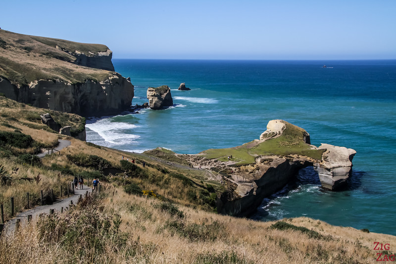 Coastal landscapes in New Zealand - Tunnel beach