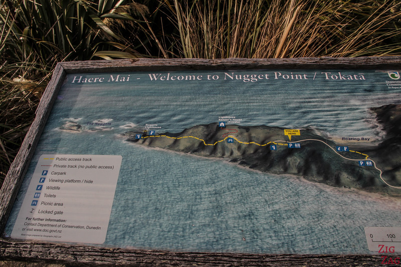 Nugget Point Walk map