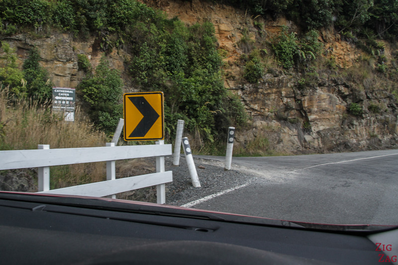 Road to Cathedral Caves  New Zealand 2