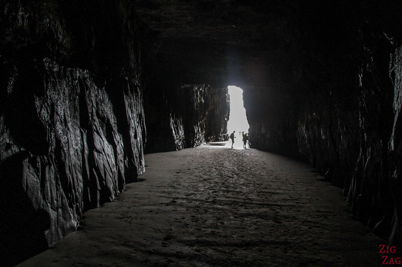 Inside the Cathedral Caves at low tide 3