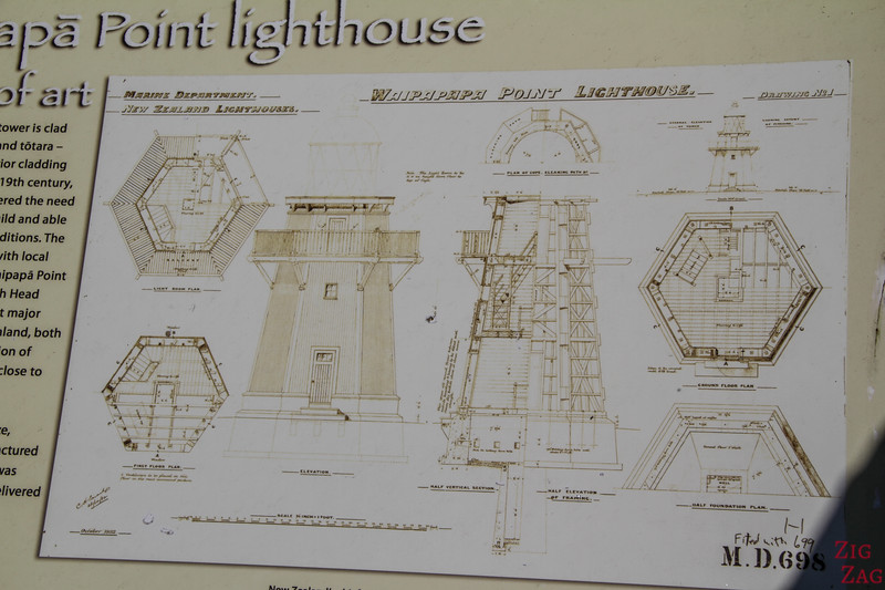 The Waipapa Point lighthouse New Zealand drawing