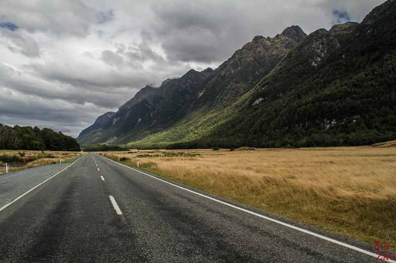 Best drives in the New Zealand mountains - Milford Sound road