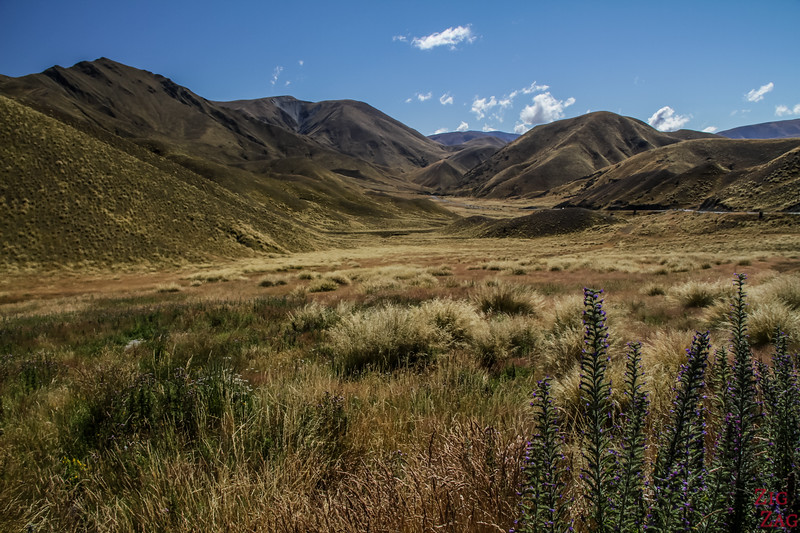 Best places to visit in the New Zealand South Island - Lindis Pass