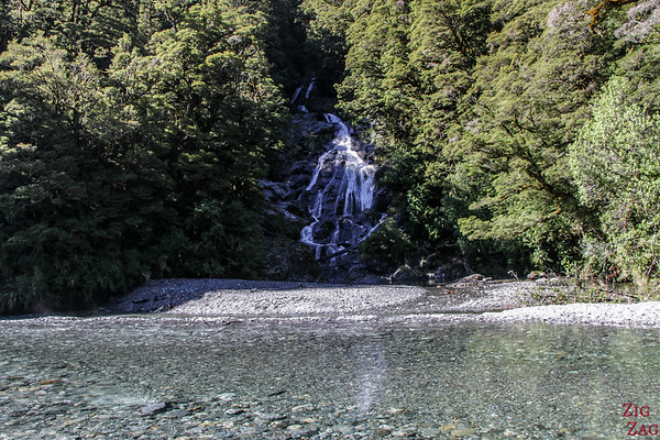 route du Haast Pass - Fantail waterfall