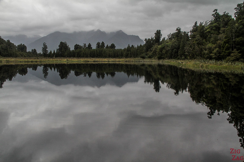 Best places to visit in the New Zealand South Island - Lake Matheson